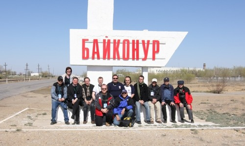 The whole group at Baikonur
