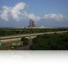 Endeavour on the launch pad 39A